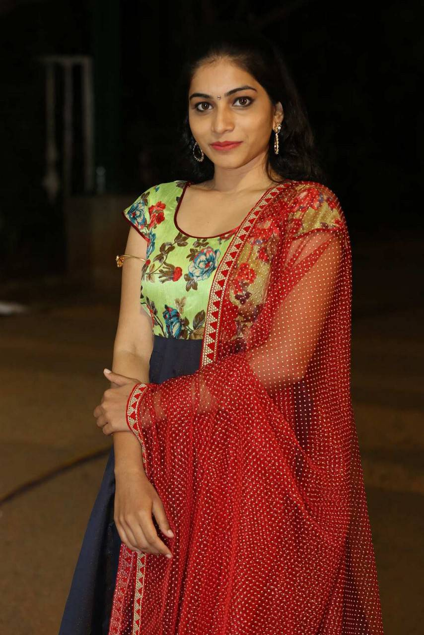 Tollywood Actress Punarnavi Stills In Blue Langa Voni