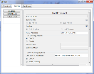 Выставляем в настройках хоста получение конфигурации по DHCP