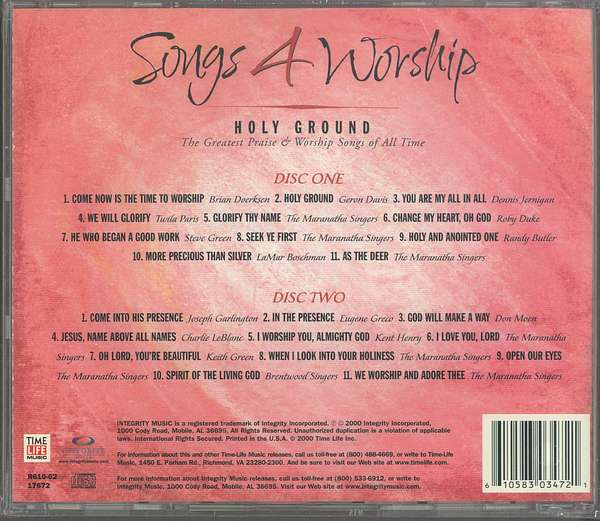 songs 4 worship - holy ground 2001 worship album tracks