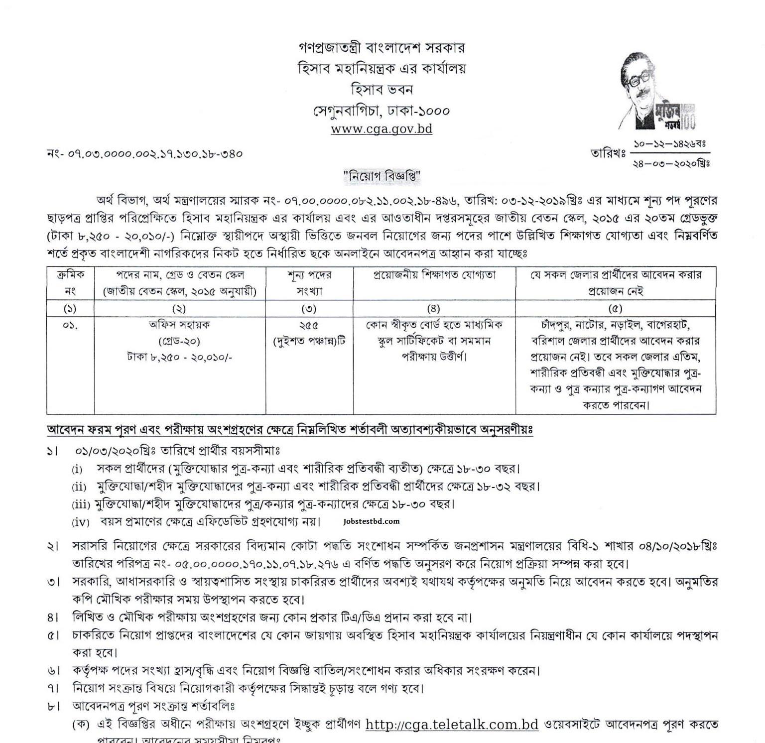 Office Sohayok Job Circular 2020 PDF 1 LI