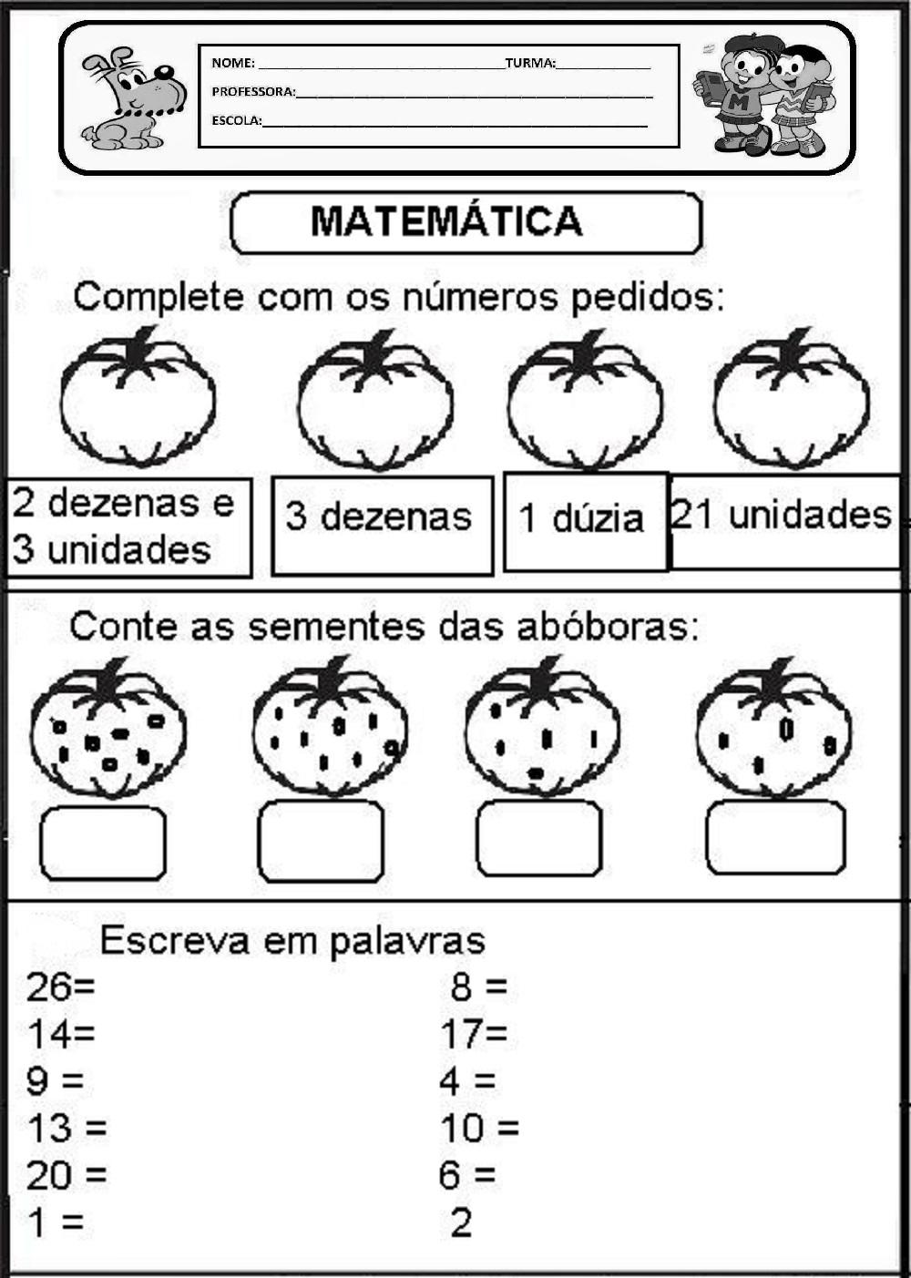 Populares Atividades de Matemática para Imprimir: Séries Iniciais EH49