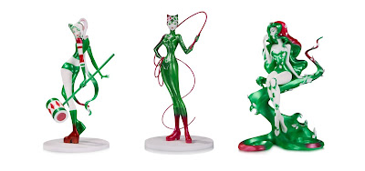 DC Comics Artists Alley Sho Murase Holiday Variant Statues by DC Collectibles - Harley Quinn, Catwoman & Poison Ivy