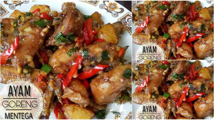 Resep Membuat Ayam Goreng Mentega Super Laziz. Bikin Nasi Putih Boros by Fara Alattas
