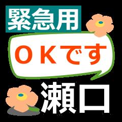 Emergency use.[seguchi]name Sticker