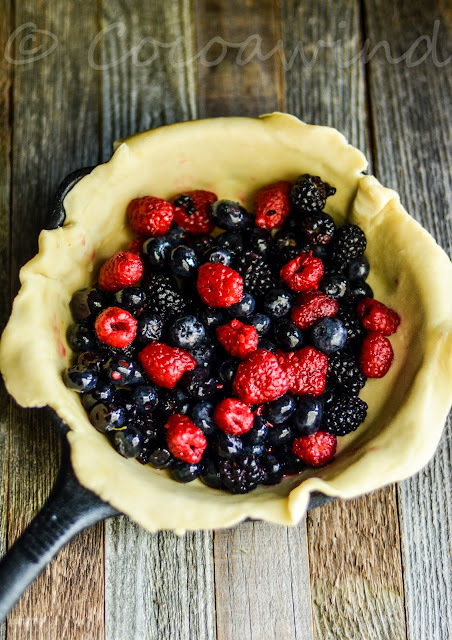 Mixed Berry Galette in my 8 inch Cast Iron Skillet - Cocoawindblog