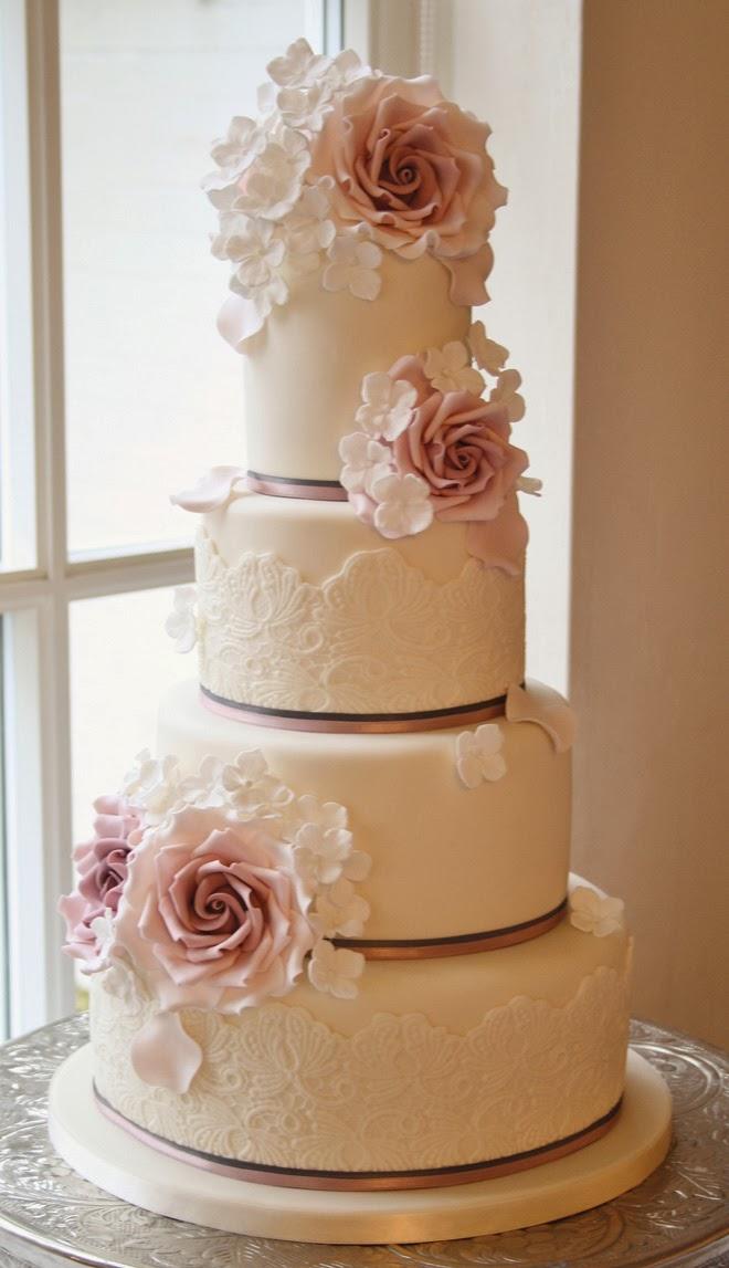 gorgeous lace wedding cakes belle the magazine. Black Bedroom Furniture Sets. Home Design Ideas