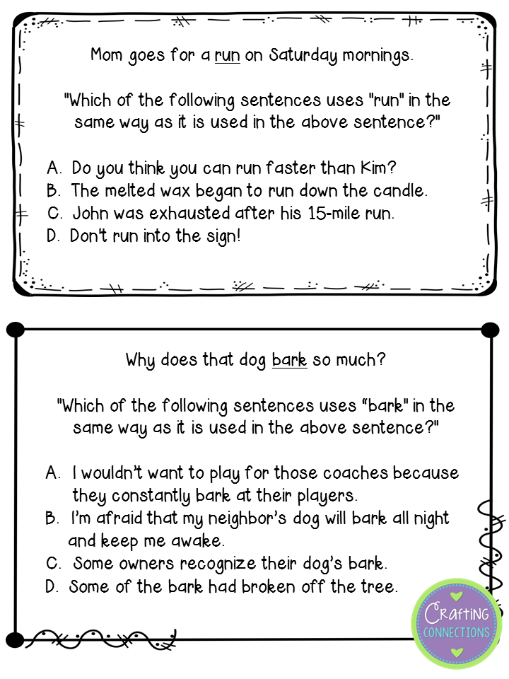 Crafting Connections January 2015 – Multiple Meaning Words Worksheets 7th Grade