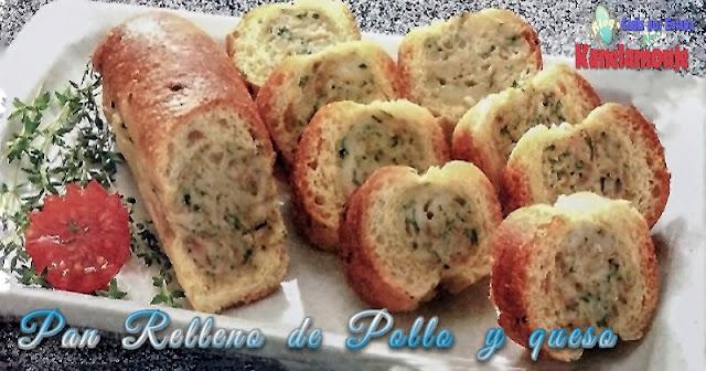 Pan Relleno de Pollo y queso