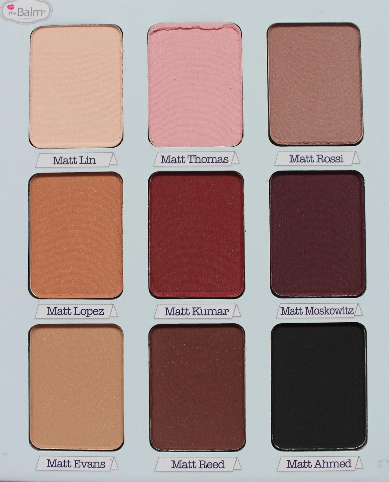 THEBALM   Meet Matt(e) Trimony Matte Eyeshadow Palette - Review + Swatches - CassandraMyee