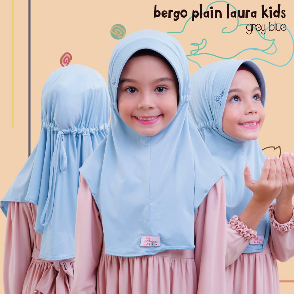 Jilbab Anak Bergo Plain Laura Warna Merah Fanta By Miulan Kids Miulanshop Com
