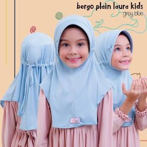 Jilbab Miulan Anak Bergo Plain Laura BPL Kids Adem & Nyaman