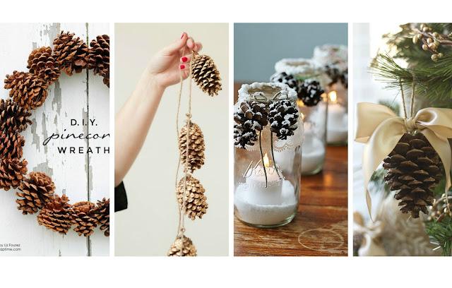 Preferenza Decorazioni di Natale fai da te con le pigne | donneinpink magazine SR11