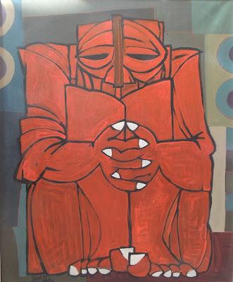 Antonio García Patiño arte moderno pintura al óleo figurativa  monstruo