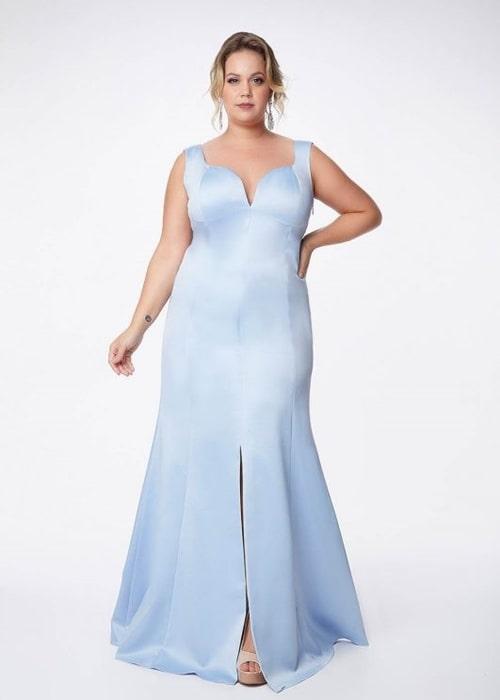 vestido azul serenity plus size