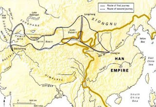Xiongnu and Han Chinese wars drove the Huns west