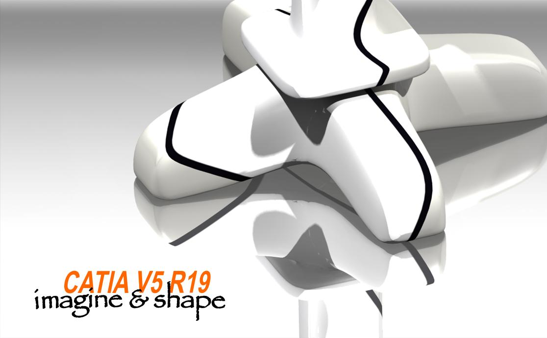 my catia V5: Rendering of a new design chair using CATIA V5
