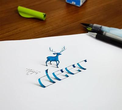Tipografía, caligrafía y anamorfismo