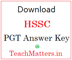 image : HSSC PGT English Answer Key 2016 Question Paper @ TeachMatters