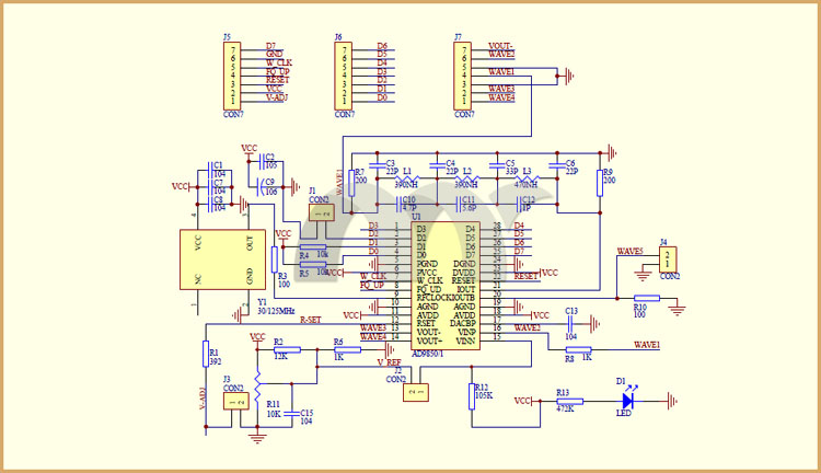 Learn By Making: Project Signal Generator: AD9850 DDS Board on