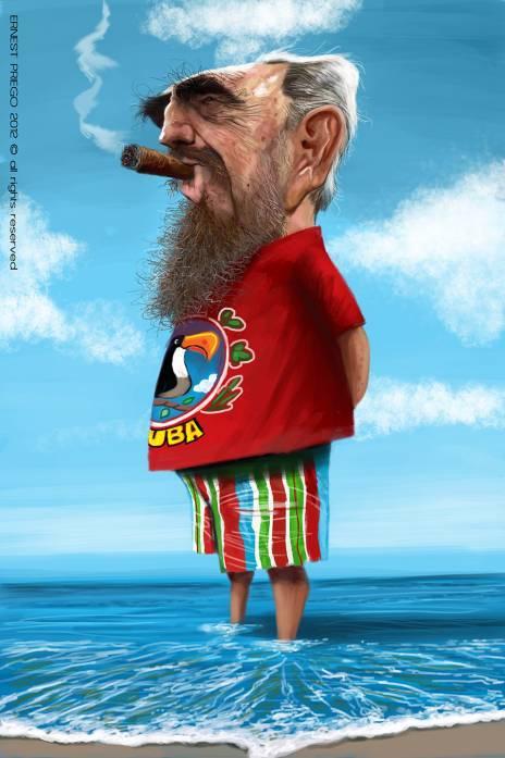 """Fidel Castro"" por Ernesto Priego"