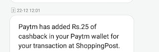 Shopping Post App - Sighn Up to get 25 rs + Per refer 25 rs