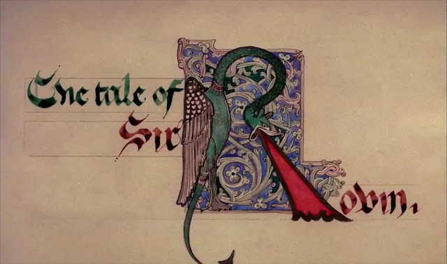 """The Tale of Sir Robin"" title card from Monty Python and the Holy Grail (1975)"