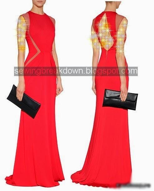 5b2631dd9 سيتم خياطة وتفصيل فستان سهرة جميل وراقي جدا ,بحيث يكون فستان السهرة مميز  ويكون مفتوح من الخلف وطويل ,اليك خطوات خياطة وتفصيل فستان سهرة.