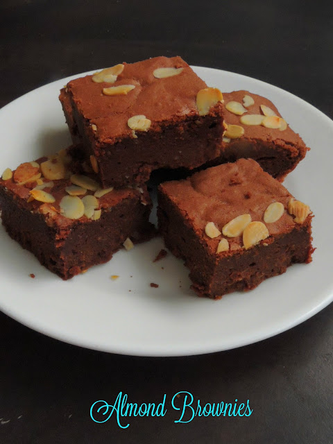 Almond brownies, Chocolate Almond Brownies