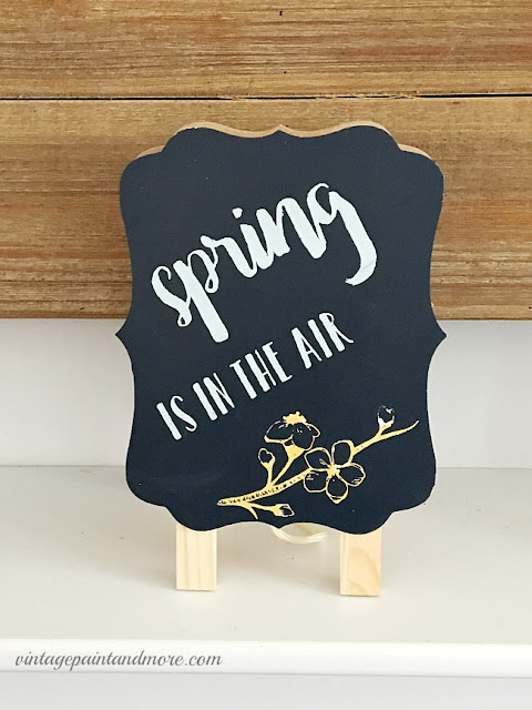 Vintage Paint and more... a cute chalkboard sign for spring
