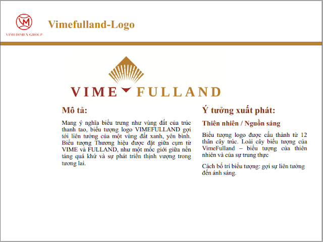 Ý nghĩa logo Vimefull Land