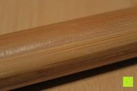 Stange: Lumaland Cuisine Küchenrollenhalter aus Bambus mit Edelstahl Spitze, Ø ca. 14 cm x 32 cm