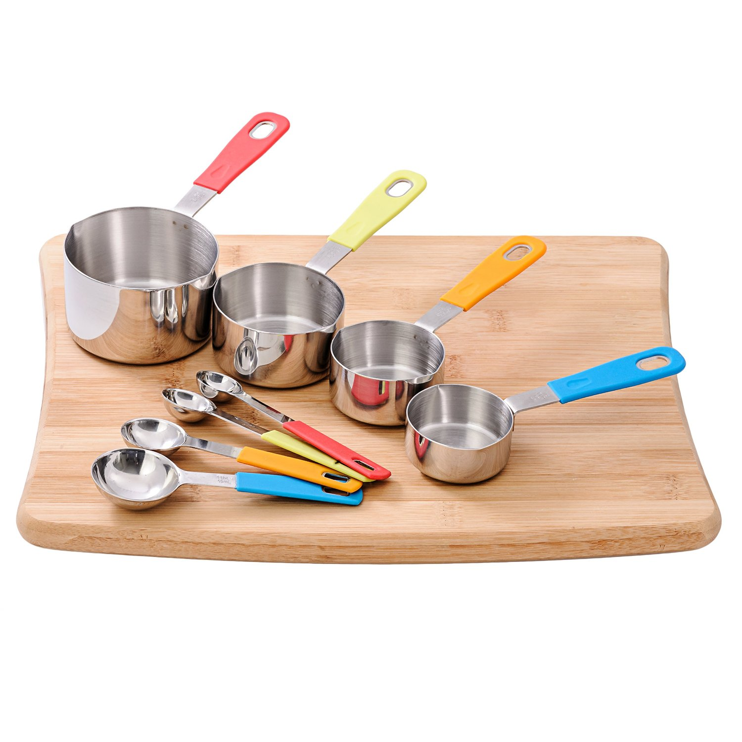 popular product reviews by amy kukpo 8 peice measuring cups and spoons set review. Black Bedroom Furniture Sets. Home Design Ideas
