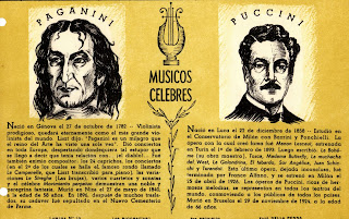 Paganini - Puccini cuadernos Istonio