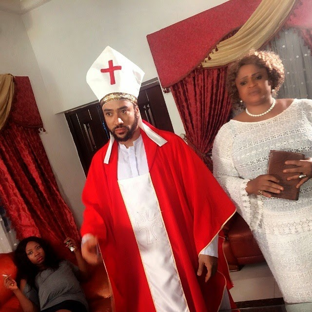 Mercy johnson and majid michel