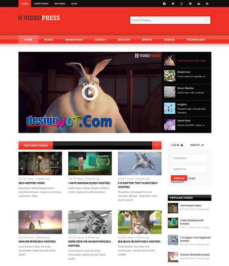 VIDEOPRESS Self Hosted Video Streaming Theme