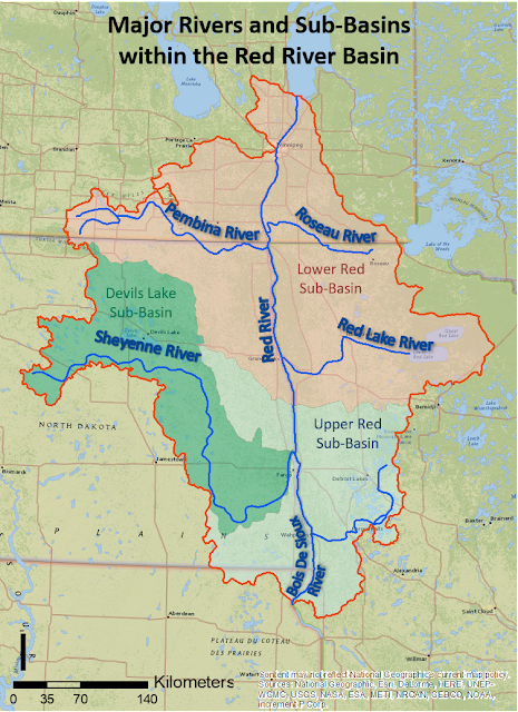Red River Basin Map Minnesota