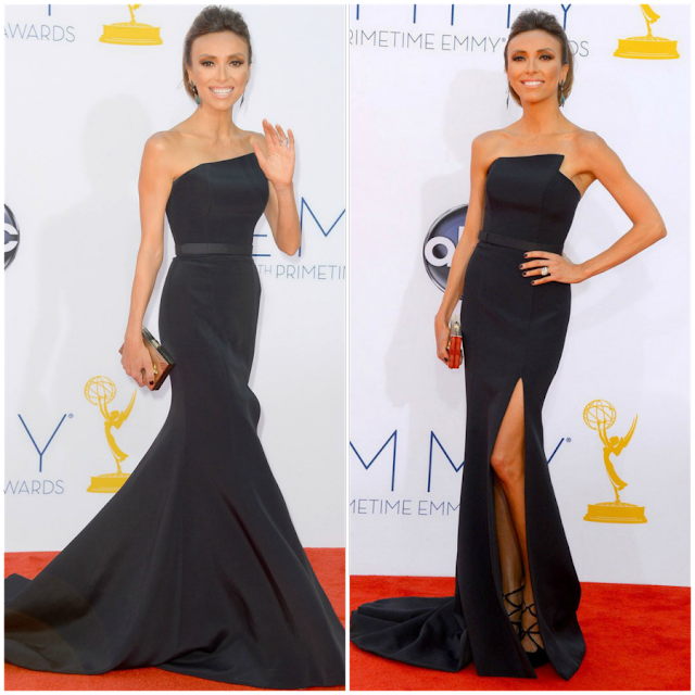 celebrity wearing sherry london evening dresses on the red carpet, black evening dresses on the red carpet, sherry london evening dresses