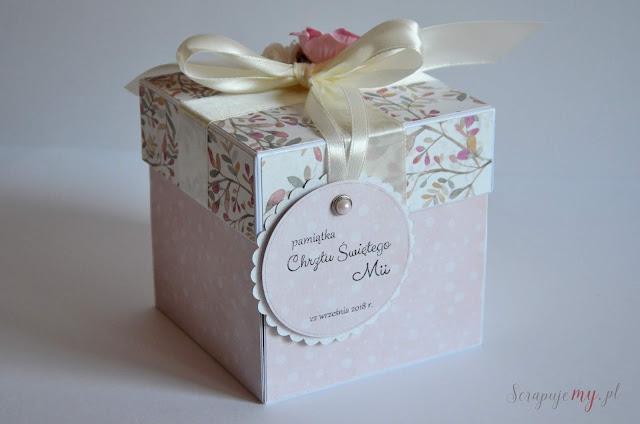 prezent na chrzes święty, kartka pudełko na chrzest, oryginalny prezent na chrzest