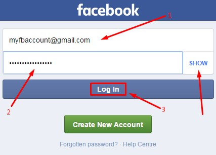 facebook login account open in english
