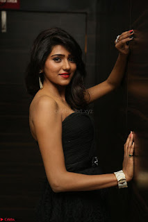 Shalu Chourasiya in spicy Sleeveless Strapless Black Top at O Pilla Nee Valla Movie Audio Launch Feb 2017 031.JPG