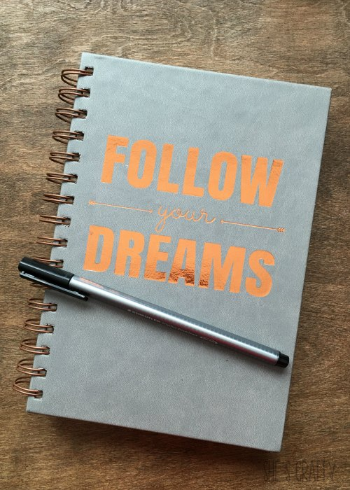 take time for self care, write in journal, follow your dreams journal