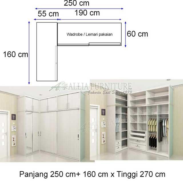 lemari minimalis sudut model navy