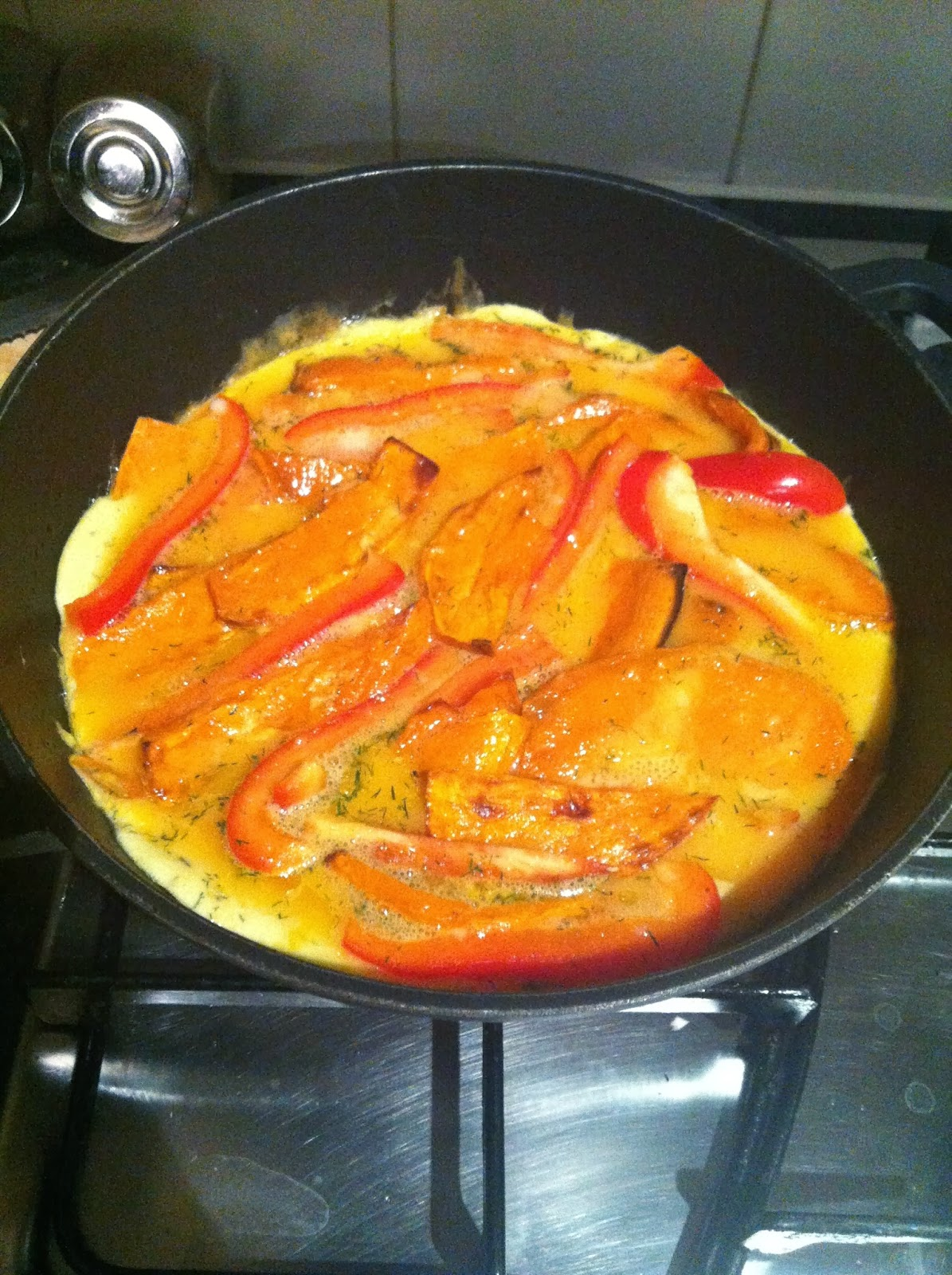 Spanish Omelette with dill and sweet potato