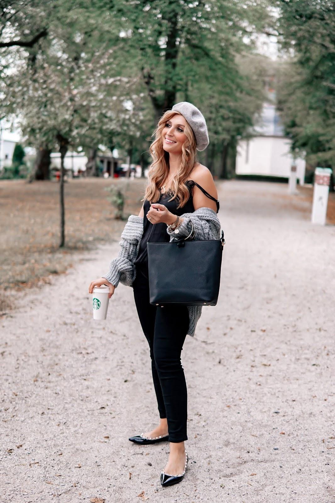 baskenmütze-grau-graue-baskenmütze-grauer-cardigan-schwarze-spitze-nieten-schuhe-fashionstylebyjohanna (4)_1