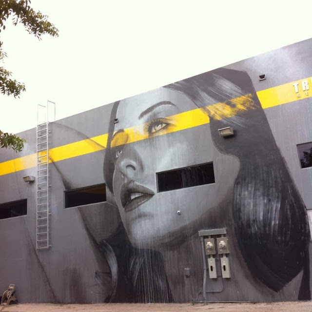 New Street Art Mural By RONE for Art Basel 2013 in Wynwood, Miami. 3
