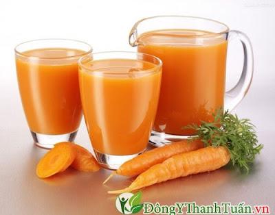 Chữa viêm họng đơn giản bằng nước ép cà rốt
