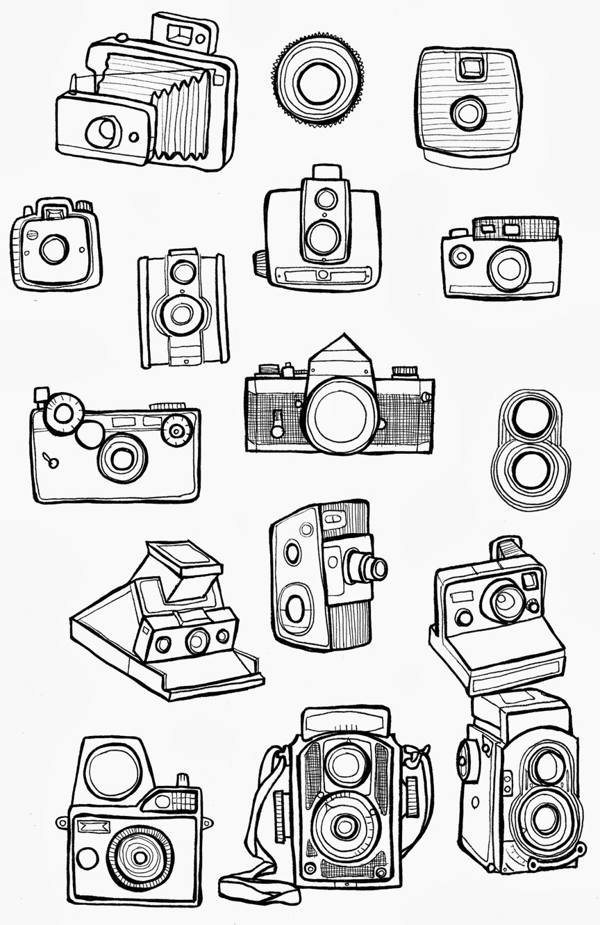 Easy Old Camera Drawing