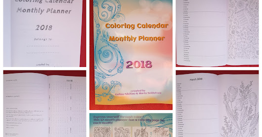2018 Coloring Calendar Monthly Planner
