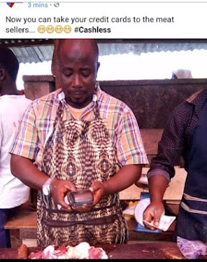 Civilized World: Meet The Nigerian Meat Seller Who Uses POS (pics)