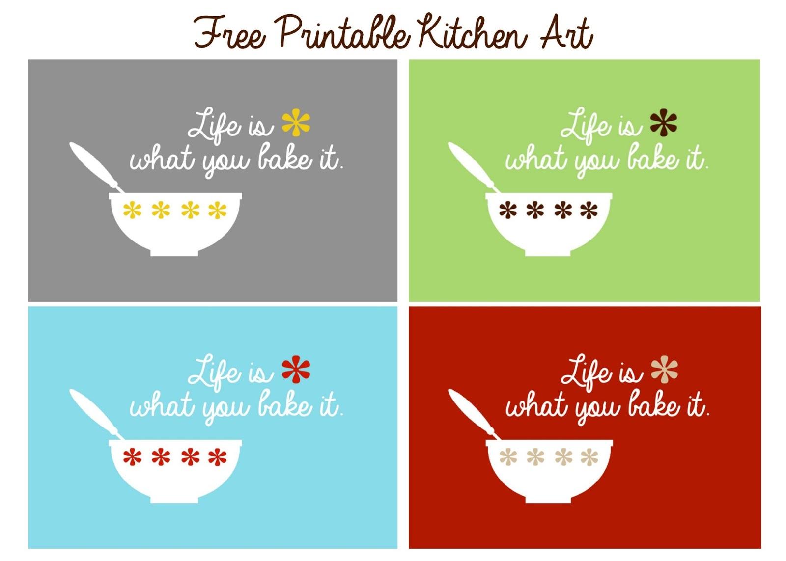 Kitchen Art Printable Delightfully Noted